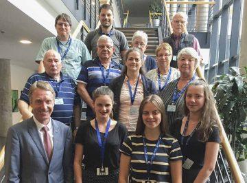 Sportvereine besuchen den Landtag
