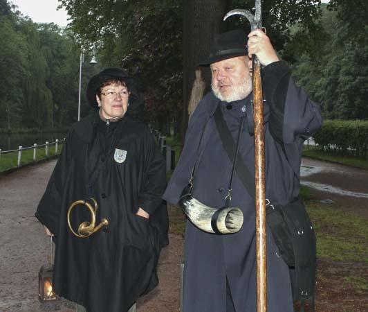 Nachtwächter Bernd Schubert und Frau Bettina | Bildquelle: © Torsten Daut / Sommergewinnszunft Eisenach e.V.