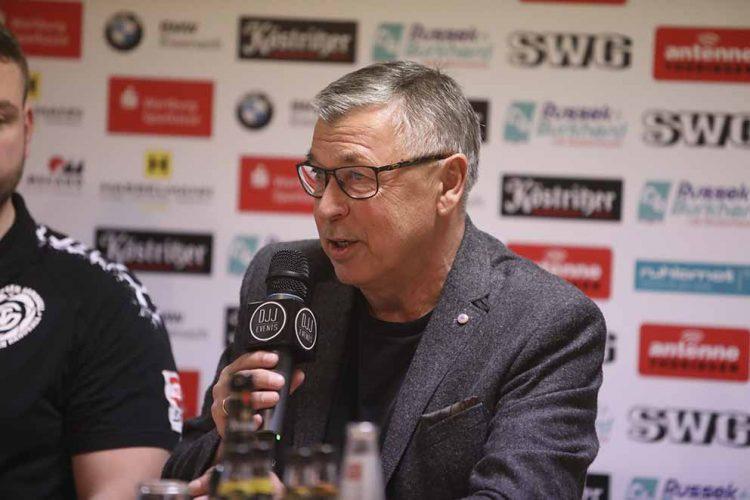 Rainer Osmann kürzlich während einer Pressekonferenz des ThSV Eisenach | Bildquelle: © Fotostudio Gräbedünkel / ThSV Eisenach