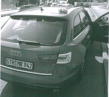 Bildquelle: © Landespolizeiinspektion Gotha Pkw Audi A6 Avant