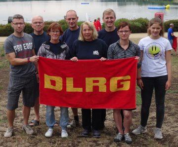 Bildquelle: Steffen Schulze/ DLRG Eisenach Gruppenbild der Eisenacher Langstreckenschwimmer (Gesa Schumann nicht im Bild)