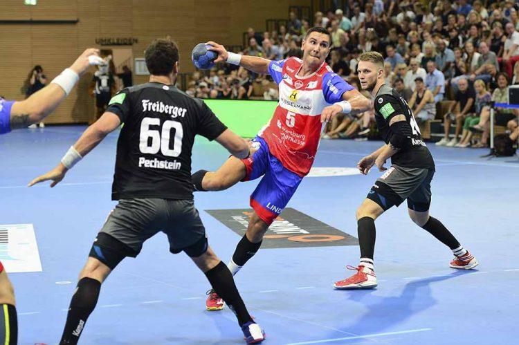 Bildquelle: © Frank Arnold • sportfotoseisenach / ThSV Eisenach Aktionsfotos Luka Kikanovic für den ThSV Eisenach in der 2. Handballbundesliga am Ball