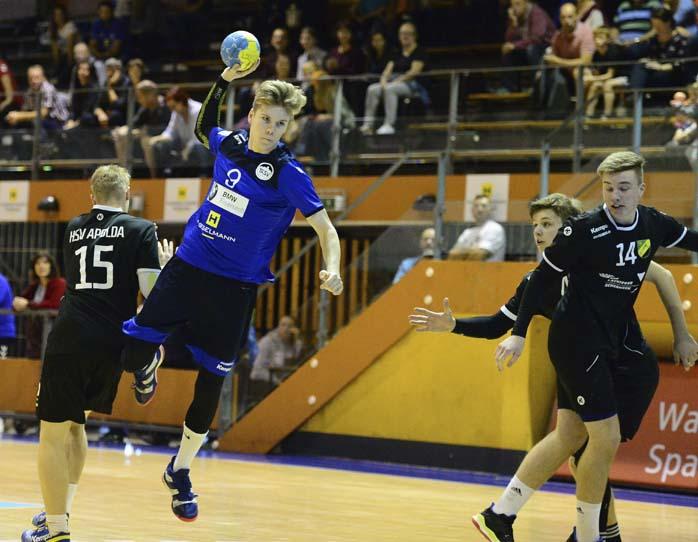 Bildquelle: © Frank Arnold • sportfotoseisenach / ThSV Eisenach Tizian Reum war mit 7 Treffern bester ThSV-Werfer