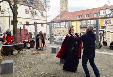 Bildquelle: © Alexandra Husemeyer  Alexandra Husemeyer und Reinold Brunner eröffnen Martinsmarkt Eisenach 2018