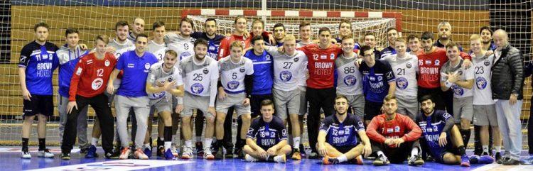 Bildquelle: © Frank Arnold • sportfotoseisenach / ThSV Eisenach Nach dem Abpfiff stellten sich beide Teams zu einem Erinnerungsfoto.