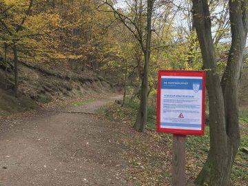 Bildquelle: © Stadt Eisenach Warnschild an der Feodora-Promenade