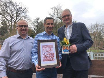 Bildquelle: Enrico Martin für AWE-Stiftung  auf dem Bild v.l.n.r.: Wolfram Böhnhardt, Sascha Schorr, Matthias Doht