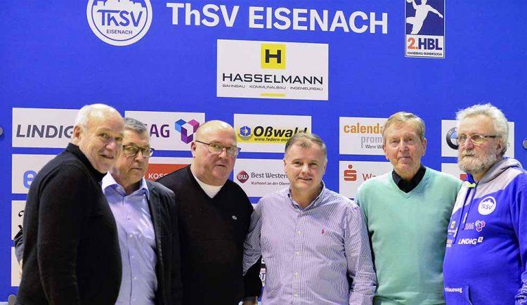 Bildquelle: © Frank Arnold • sportfotoseisenach / ThSV Eisenach Der Ehrenrat des ThSV Eisenach: (v.l.): Günter Oßwald, Rainer Osmann, Achim Ursinus, Shpetim Alaj, Gerhard Sippel, Thomas Levknecht und (nicht im Bild) Rene Witte