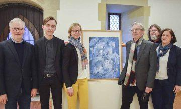 Bildquelle: © Stadt Eisenach v.l.: Kulturamtsleiter Dr. Achim Heidenreich, Johann Bärenklau, OB Katja Wolf, Hartmut Sommer, Ingo Wachtmeister, Museumsleiterin Dr. Annika Johannsen.